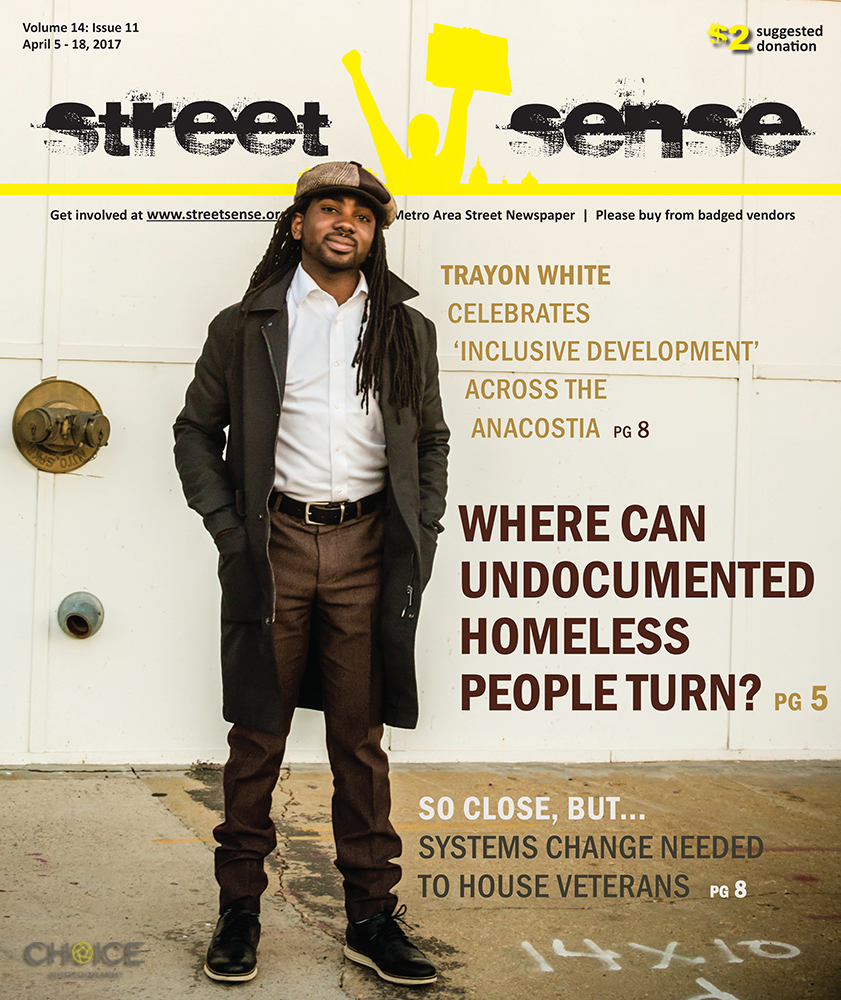 Washington, D.C. Councilmember Trayon White featured on cover of April 5, 2017 issue of Street Sense Magazine (Rodney Choice/Choice Photography/www.choicephotography.com) http://streetsense.org/article/trayon-white-celebrates-inclusive-development-across-the-anacostia/