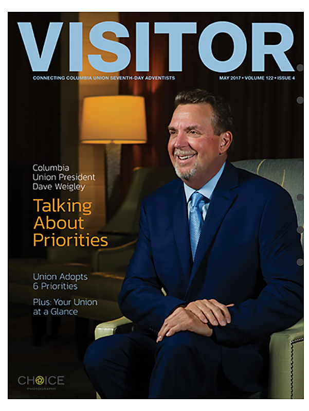 Dave Weigley, President of the Columbia Union Conference of Seventh-day Adventists for Visitor Magazine.