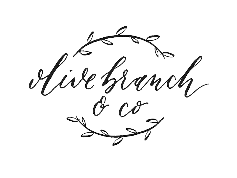Olive Branch & Co Calligraphy