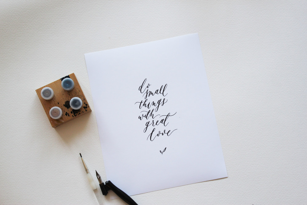 Olive branch co calligraphy