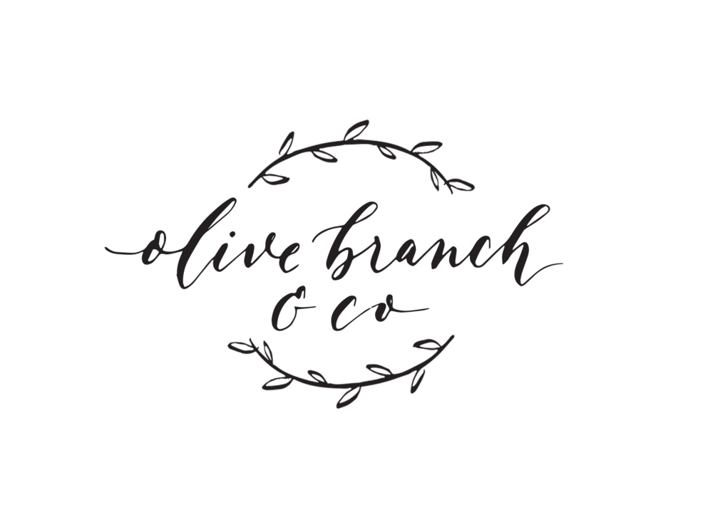 logos olive branch co calligraphy