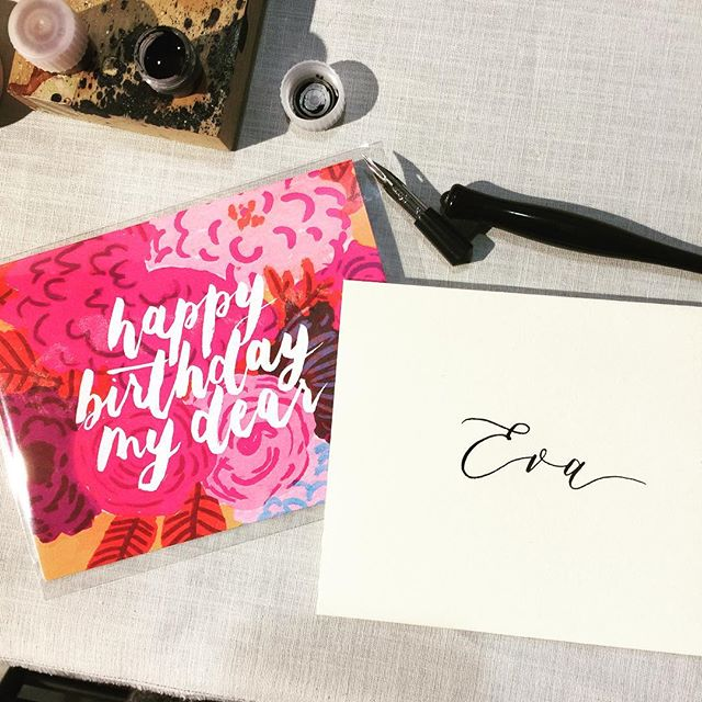 One of the things I love about markets is getting to personalize cards to your people, because there's something about seeing your name written out! I'll be offering calligraphy on envelopes along with card purchases this weekend at @gotcraftmarket - if you're in Vancouver, come say hi! :)
