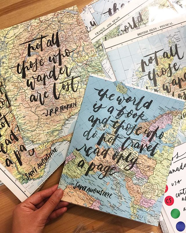 Our floor these days: lots and lots of maps! A great gift idea for that person in your life who loves to travel, or to commemorate a special place for that special someone. Will be bringing a bunch of these to @gotcraftmarket this weekend - see you there??? 👋🏼 . . . #shopsmall #shoplocal #vancouver #vancouverisawesome #handwritten #brushcalligraphy #maps #staugustine #paperlove #travel #etsyca #etsy