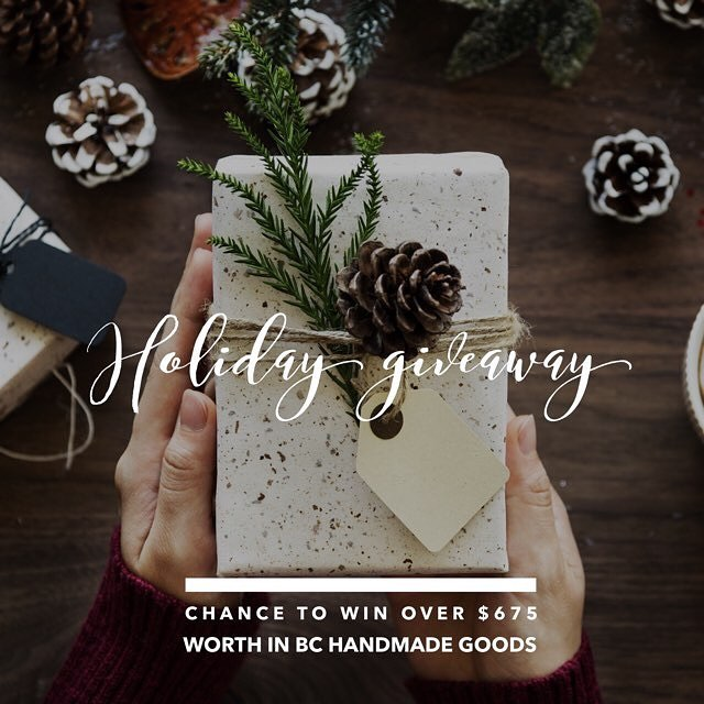 "HOLIDAY GIVEAWAY TIME! (Another one! I know! But this one is amaaaazing) - To celebrate this month of giving, we have joined up with an amazing group of BC artisans to create the ultimate loop GIVEAWAY. You can enter to win 1 out of 3 prize boxes including: @olivebranchandco (that's us!) - 2018 calendar + 3 cards ($30) @elementbotanicals - Favorites Skin Care Set ($75) @winterwooliesshop - Hand Crochet Merino Wool Beanie ($60) @goldilockswraps - Set of 3 ""Peter Pan"" Beeswax wraps (varying sizes) ($30)  @jmjanamade - Stamped Brass Sterling Silver Posts Maple Key Earrings ($68) @olannhandmade - Hand Knit Oatmeal Pom Pom Beanie ($45) @parkridgedoodles - Lavender Soy Candle + Tea Tree Shea Butter Soap ($42)  @powellfloral - Foraged Dried Wildflower Confetti ($20) @knitwhitdesigns - Hand Knit Purple XL Infinity Scarf ($65) @ashtangayogavictoria - 1 month unlimited all access pass to Mysore, Led and Yin Classes ($140) *Victoria BC random draw winner @flore_botanical_alchemy - Flore Island Natural Parfum Oil - Wild Woman of the Sea ($60)  @amarabluevan - Sterling Silver Moon Ring ($40) Total: $675 (OMG) Entering the contest is easy, simply follow ALL the Steps: 1. Like this photo 2. Must follow (insert your shop name here) & ALL the artists listed in the giveaway (we always check!) 3. Tag 2 friends you think would like to join in! 4. EXTRA ENTRY - Share this photo on your page to be entered twice! Once you have completed ALL the steps you have been entered to win 1 out of our 3 prize holiday boxes worth over $200 each! Giveaway closes at midnight Monday 12/11 and the winners will be announced on Tuesday 12/12 just in time for Christmas. Open to Canada shipping addresses only. Giveaway is not sponsored, endorsed or affiliated with instagram inc. By entering, you are confirming you are 18 or older, release instagram of responsibility and agree to instagram terms of use. Host: @winterwooliesshop Good luck everyone! . . . #shoplocal #shopsmall #vancouver #vancouvergiveaway #giveaway #holidaygiveaway #bc #shopbc #smallbusiness #loopgiveaway"
