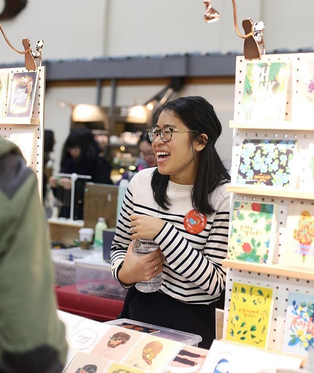 This sweet snap from @gotcraftmarket 🙌🏼🙇🏻‍♀️💌 . . . #shoplocal #shopsmall #vancouver #makersgonnamake #makersmovement #vancouverisawesome #bts