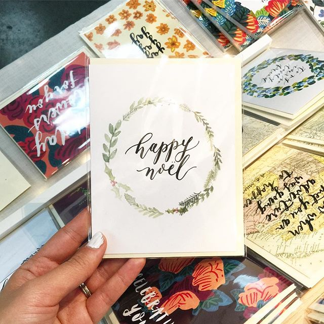 Here at @gotcraftmarket today with this classic Christmas card - bilingual, of course, because Canada 💕 here till 5 with some amaaaazing vendors! . . . #shopsmall #shoplocal #vancouver #vancouvermarket #paperlove #stationery #vancouverisawesome #makersgonnamake #makersmovement