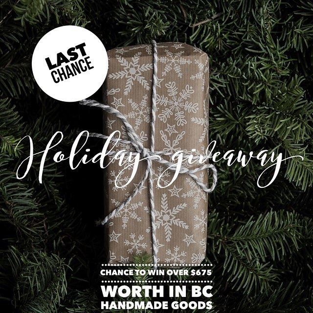 "It's your LAST CHANCE to get in on this amazing BC Artisans GIVEAWAY (ends 12/11 at midnight PST)!! • • To celebrate this month of giving, we have joined up with an amazing group of BC artisans to create the ultimate loop GIVEAWAY. You can enter to win 1 out of 3 prize boxes including: @elementbotanicals - Favorites Skin Care Set ($75) @winterwooliesshop - Hand Crochet Merino Wool Beanie ($60) @goldilockswraps - Set of 3 ""Peter Pan"" Beeswax wraps (varying sizes) ($30) @jmjanamade - Stamped Brass Sterling Silver Posts Maple Key Earrings ($68) @olannhandmade - Hand Knit Oatmeal Pom Pom Beanie ($45) @parkridgedoodles - Lavender Soy Candle + Tea Tree Shea Butter Soap ($42)  @powellfloral - Foraged Dried Wildflower Confetti ($20) @knitwhitdesigns - Hand Knit Purple XL Infinity Scarf ($65) @olivebranchandco - 2018 calendar + 3 cards ($30) @ashtangayogavictoria - 1 month unlimited all access pass to Mysore, Led and Yin Classes ($140) *Victoria BC random draw winner @flore_botanical_alchemy - Flore Island Natural Parfum Oil - Wild Woman of the Sea ($60) @amarabluevan - Sterling Silver Moon Ring ($40) Total: $675 (OMG) Entering the contest is easy, simply follow ALL the Steps: 1. Like this photo 2. Must follow @olivebranchandco & ALL the artists listed in the giveaway (we always check!) 3. Tag 2 friends you think would like to join in! 4. EXTRA ENTRY - Share this photo on your page to be entered twice! Once you have completed ALL the steps you have been entered to win 1 out of our 3 prize holiday boxes worth over $200 each! Again, Giveaway closes at midnight Monday 12/11 and the winners will be announced on Tuesday 12/12 just in time for Christmas. Don't miss out! Open to Canada shipping addresses only. Giveaway is not sponsored, endorsed or affiliated with instagram inc. By entering, you are confirming you are 18 or older, release instagram of responsibility and agree to instagram terms of use Host: @winterwooliesshop Good luck everyone! . . . . . . #giveaway #giveaways #win #contest #canada #christmas #craft #vancouver #victoria #westcoast #locallove #shoplocal #makers #craftshow #buylocal #yvr #yyj #sweepstakes #canadamade #handmade #BCmade #handmadegifts #etsy #give"