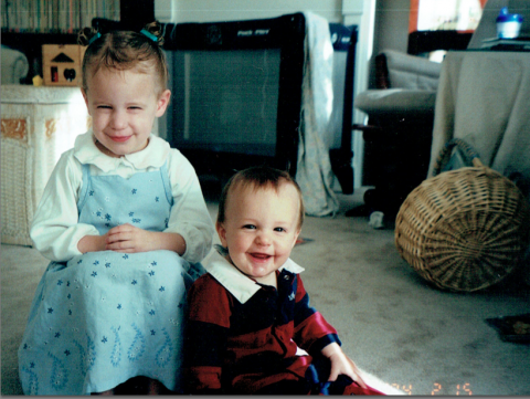 Spring 2002: James & Jewel, ages 2 & 1.