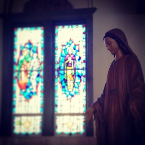 The beautiful chapel at The Sisters of St. Joseph Motherhouse in Orange, CA.