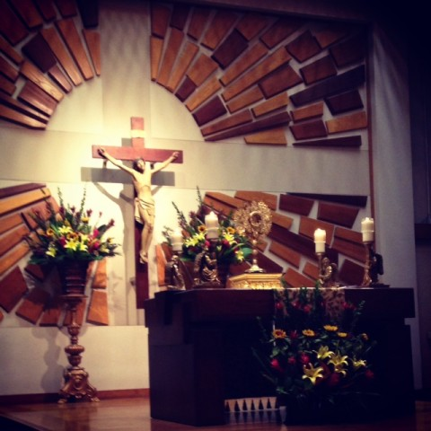 7:30pm: Our pastor was celebrating a special evening Mass for his patron saint. I stayed after Confession to receive the Eucharist and spend time praying during Adoration. A peaceful and wonderful end to my day.