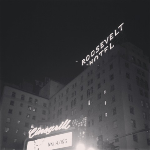Roosevelt Hotel! I could see the Chinese Theatre from my bedroom window!