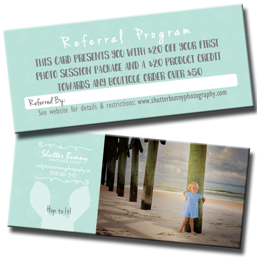 Request Referral Cards anytime. Simply complete the simple form below & I will mail them right to you.