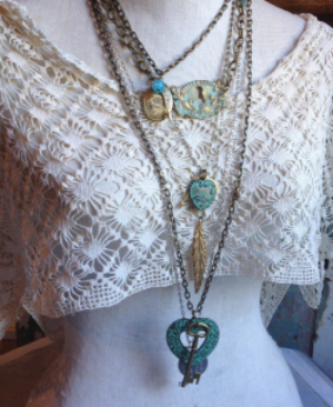 Reclaimed Reclicss Vintage Valentine Necklace