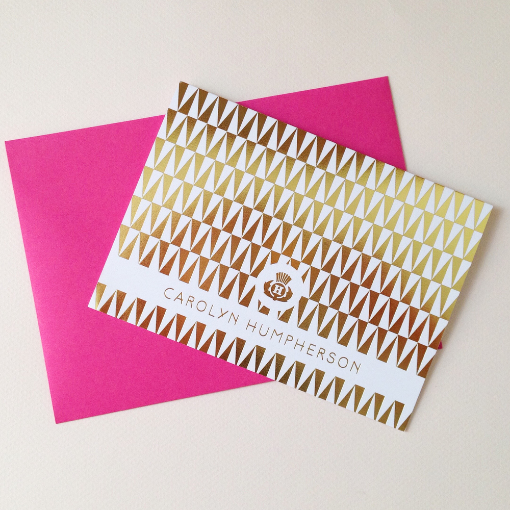 Foil pressed notecards