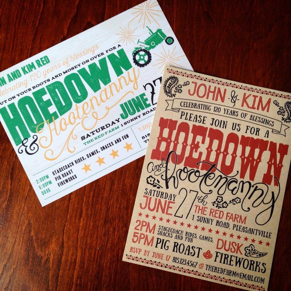Hoedown Invitation Concepts