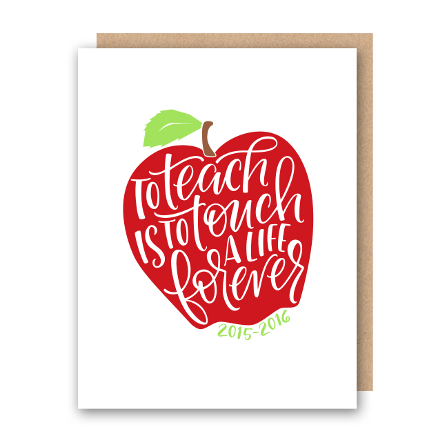 Apple Quote Single Card - $3.00