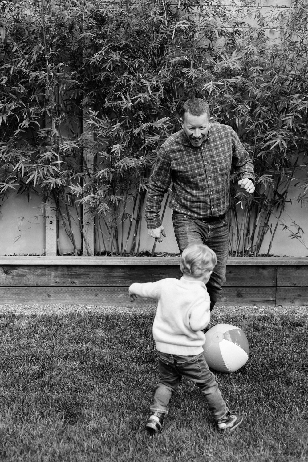 menlo park dad and son playing ball