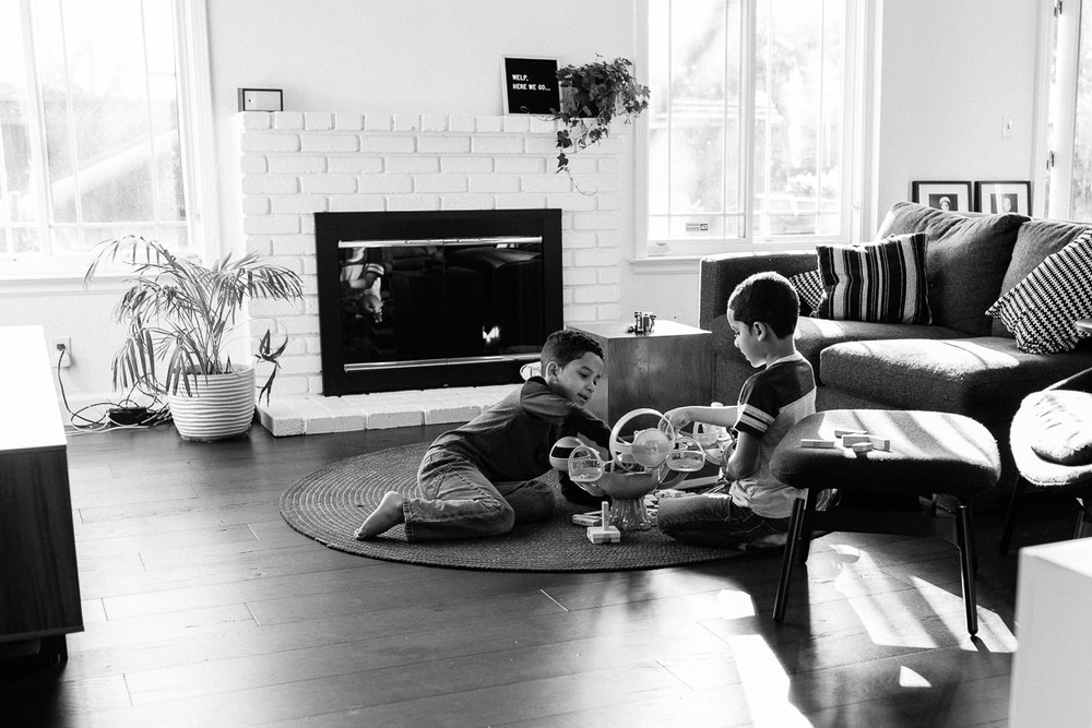 twin boys playing