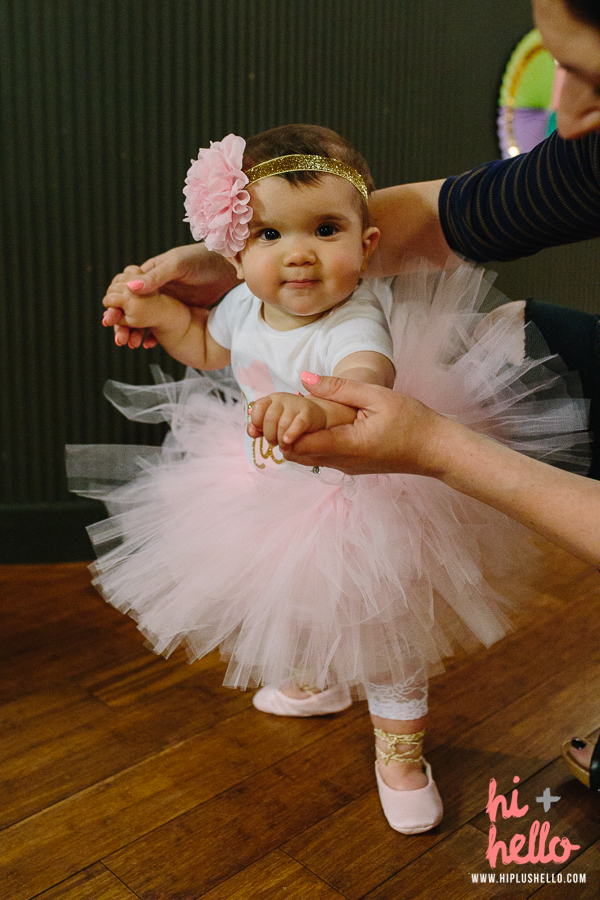 baby girl ballerina party