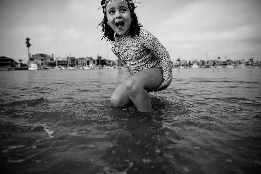 joyous kid beach