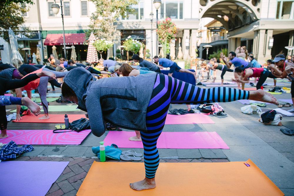 colorful yoga