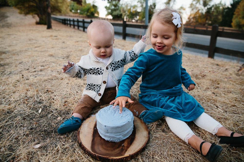 sibling cake smash