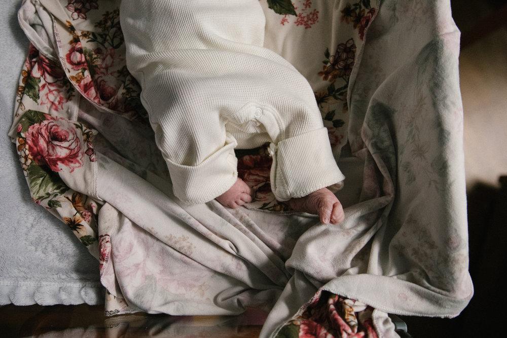 newborn floral swaddle