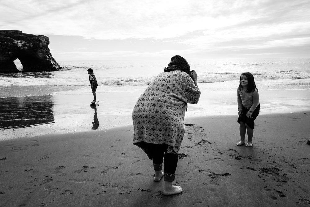 bay area beach family