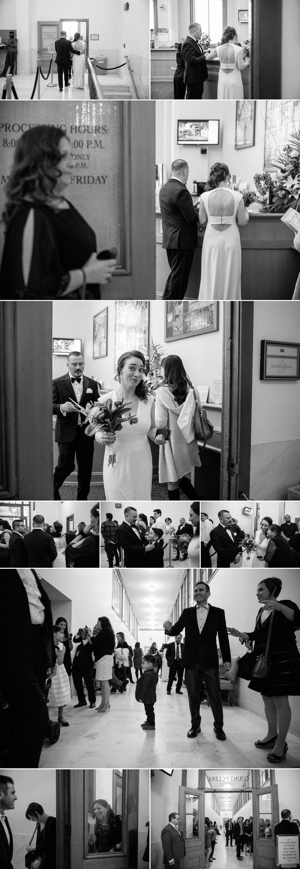 black and white san francisco city hall wedding.jpg