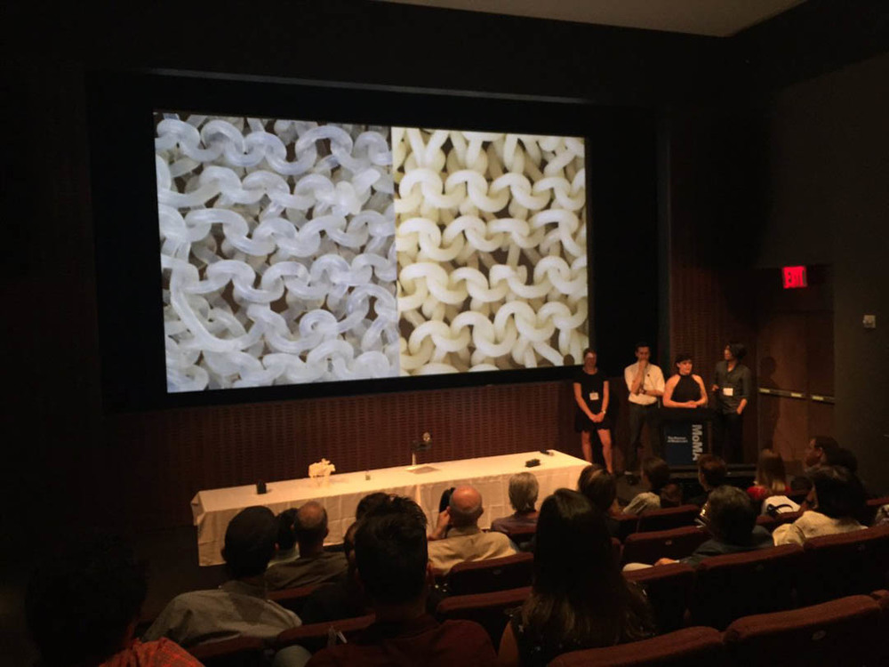 Presenting our work at MOMA. Image courtesy of Julia Borden https://twitter.com/juliaborden