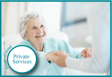 Private Services provides assistance with everyday needs from housework to personal care. Whether you require one or 24 hour care our personalized plan is tailored to your needs. Our goal is to keep you in your home safely for as long as possible.  Learn more
