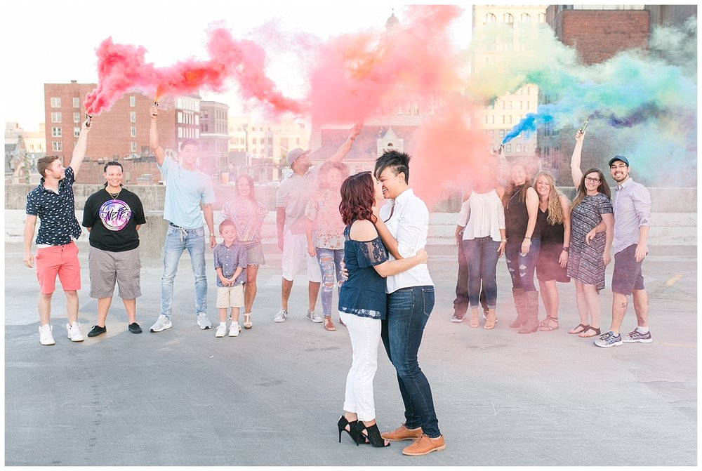 It may have taken us all a hot second to figure out the smoke bombs, but it was 100% worth it!!