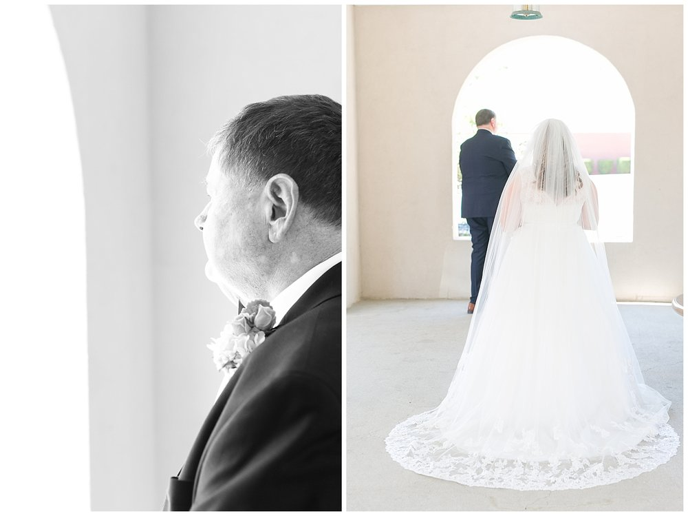 Daddy daughter first-looks are always one of my favorite moments on a wedding day.
