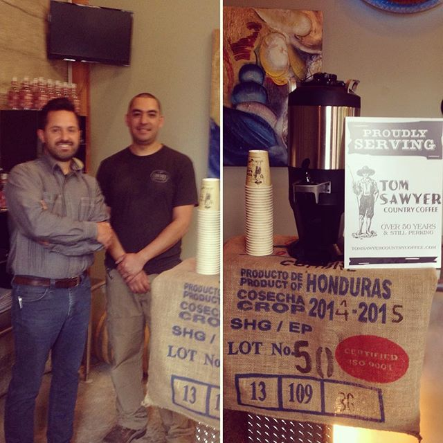 #spokanesfinest @sawyer_coffee delivering some #craftcoffee ahead of today's distiller for a day class. Couldn't start an exciting day off on a better note! Huge thanks to Chris for bringing the #liquidlove this morning!  #craft #craftspirits #distillerforaday #tinbender #tomsawyercoffee #yum #java #booze