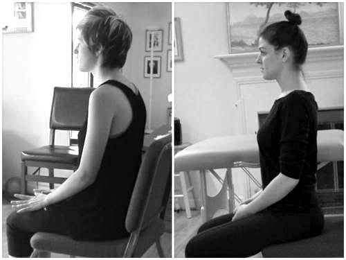 2009 / 2014: Note the dramatic shift in my shoulder slope and where my jaw line sits.