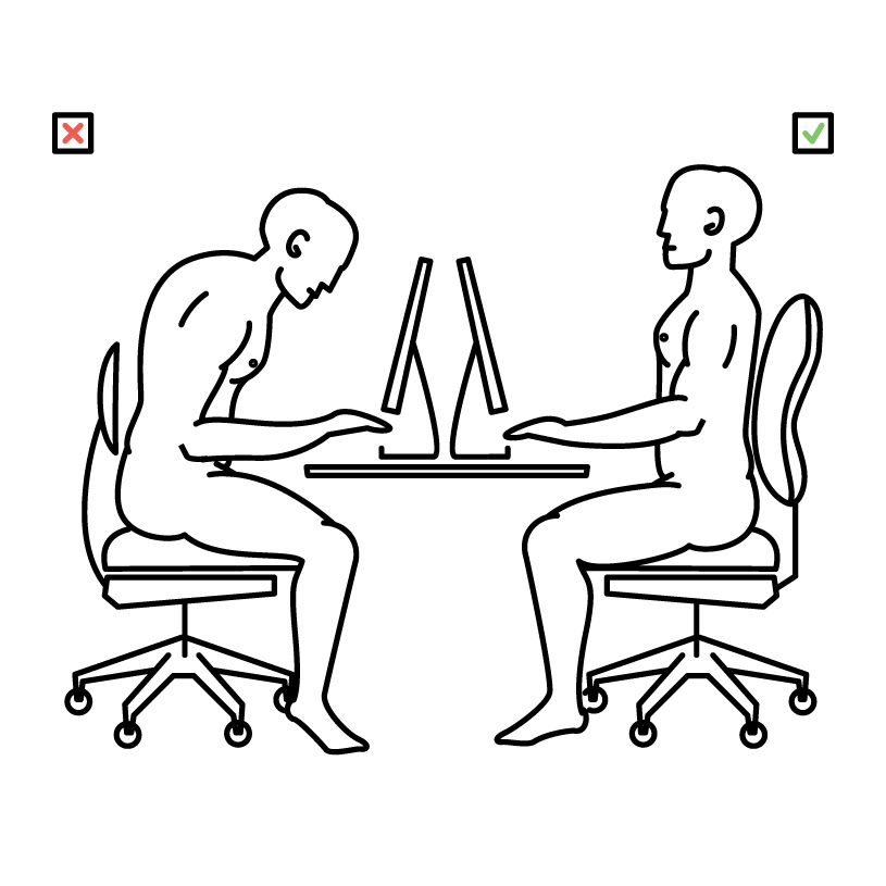 We sit multiple times a day and often sit for long hours.  How you are sitting?