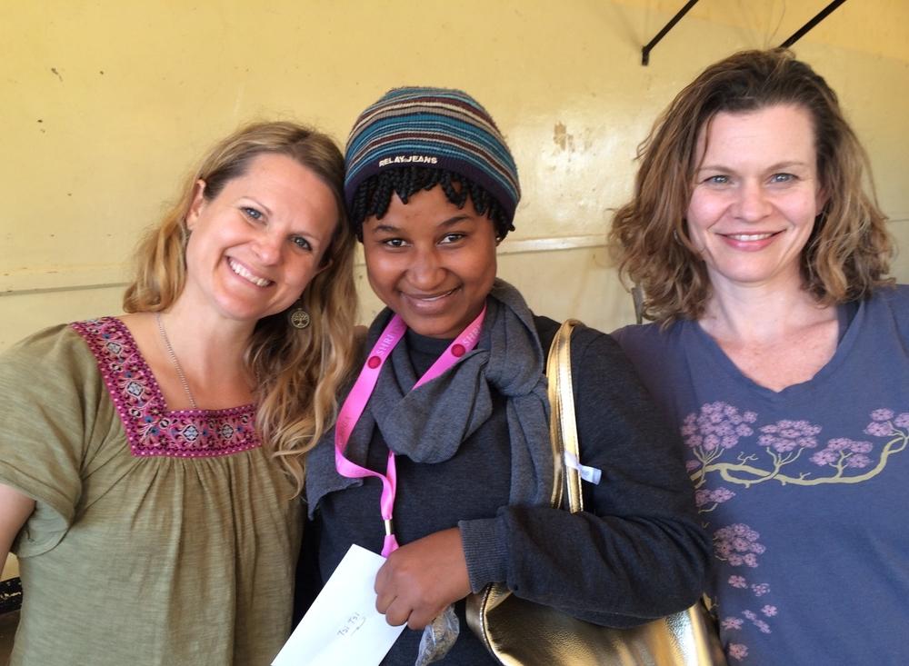 Erin, Tsitsi and me.
