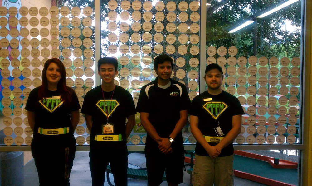 Putt-Putt FunHouse Staff With Many Paper Golf Balls.jpg