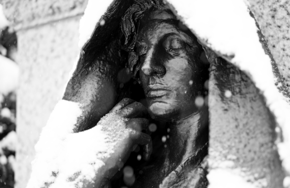 Grief  by Augustus Saint-Gaudens at the cemetery's Adams Memorial.