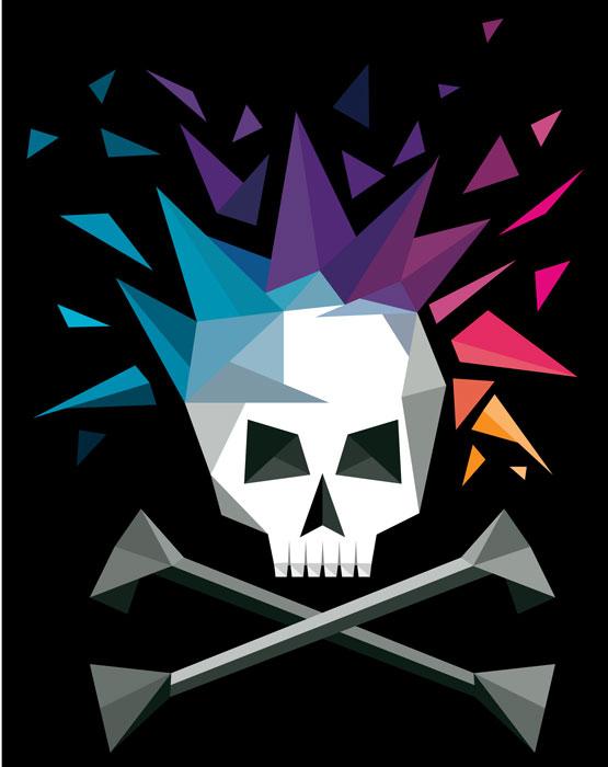 """""""Punk Skull"""" Vector"""