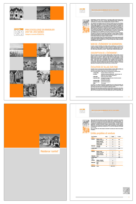Brochure for LSR, International Real Estate Developer