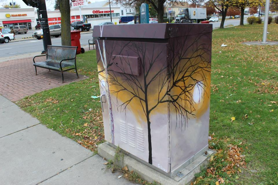 Hertel Avenue Signal Box, Buffalo, NY - Courtesy of Community Canvases