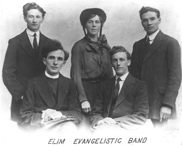 George Jeffries (Front Left) and the early team he put together called the 'Elim Evangelistic Band'