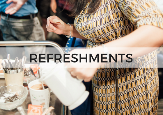 REFRESHMENTS - We love connecting with each other after the Sunday services! The Refreshments Team facilitate this by preparing and serving tea, great coffee, juice and snacks after the service.Click here to view the team's welcome guide. https://goo.gl/qeX3DW↓ Complete the form below to get involved.