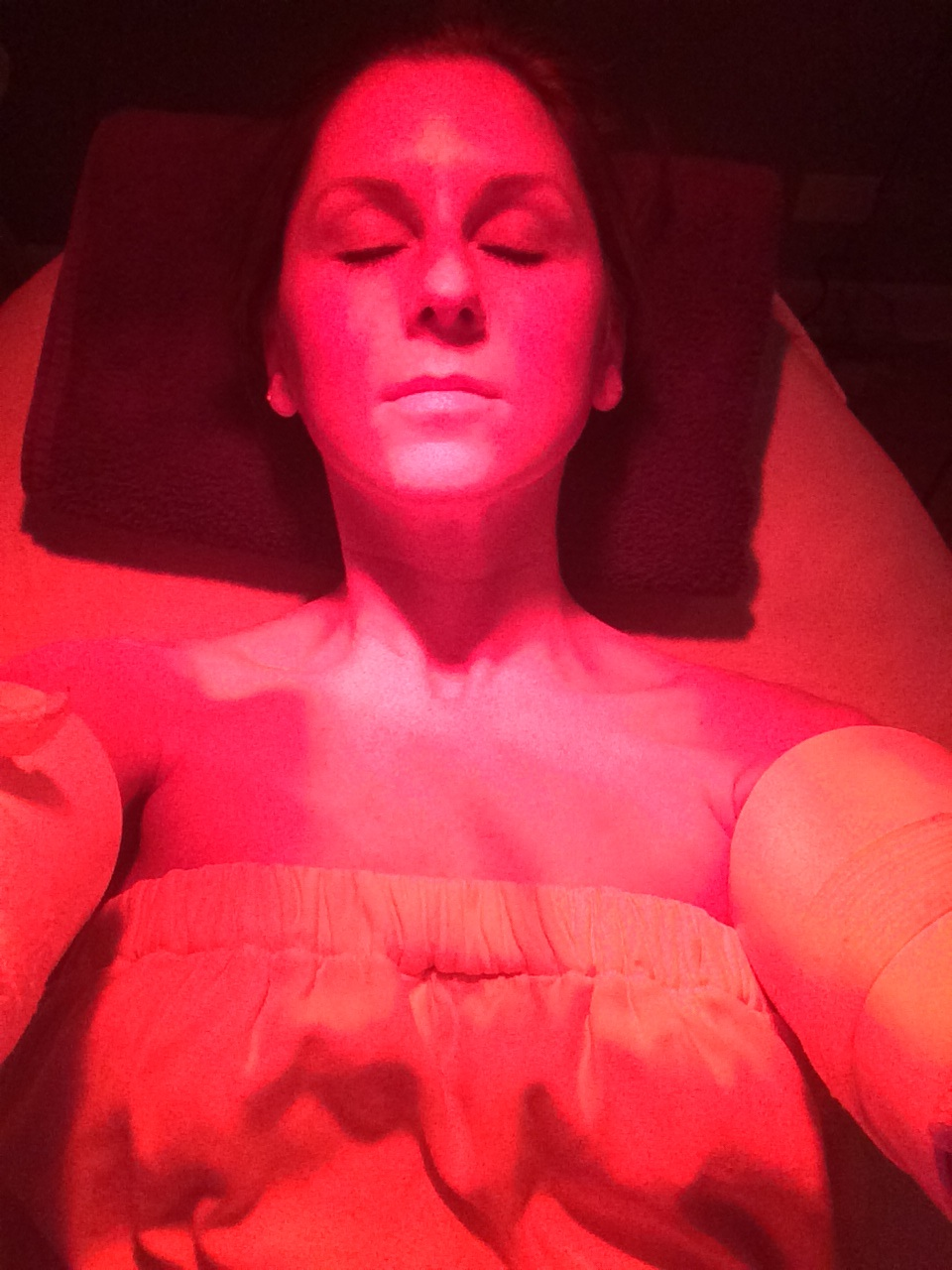 Thermojet Infrared Body Wrap    Something else I have recently tried is the Thermojet Infrared Body Wrap treatment is designed to initiate the process of lipolysis (breakdown of stored fat) in the body. This unique system uses bimodal (short and long wave) infrared technology to break down free fatty acids and release them into the blood stream for metabolism. Reduce the appearance of cellulite and lose inches in 6-9 treatments.   It was a very relaxing experience and I felt lighter afterwards. This service is PERFECT before a big event like a wedding, gala, or anything else you want to look a little slimmer for.