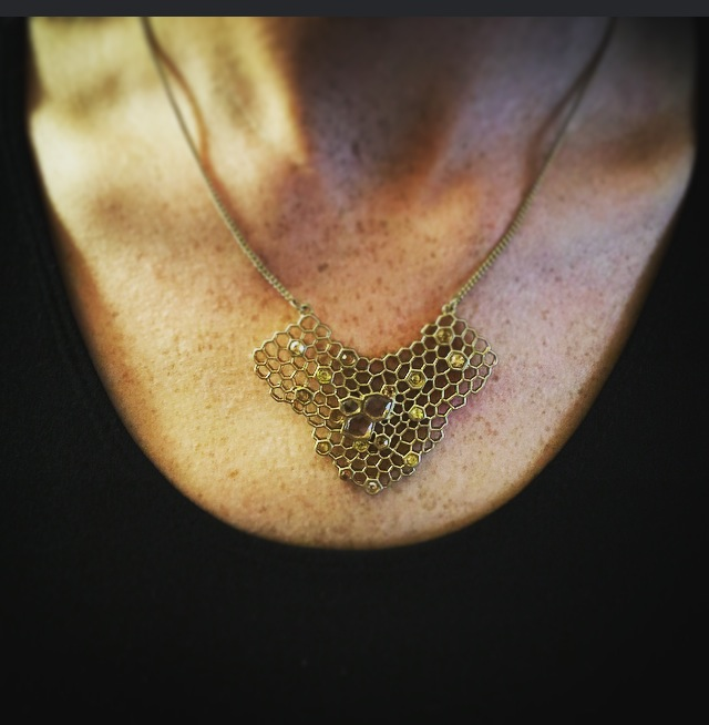 """HoneyComb East-West Necklace"""