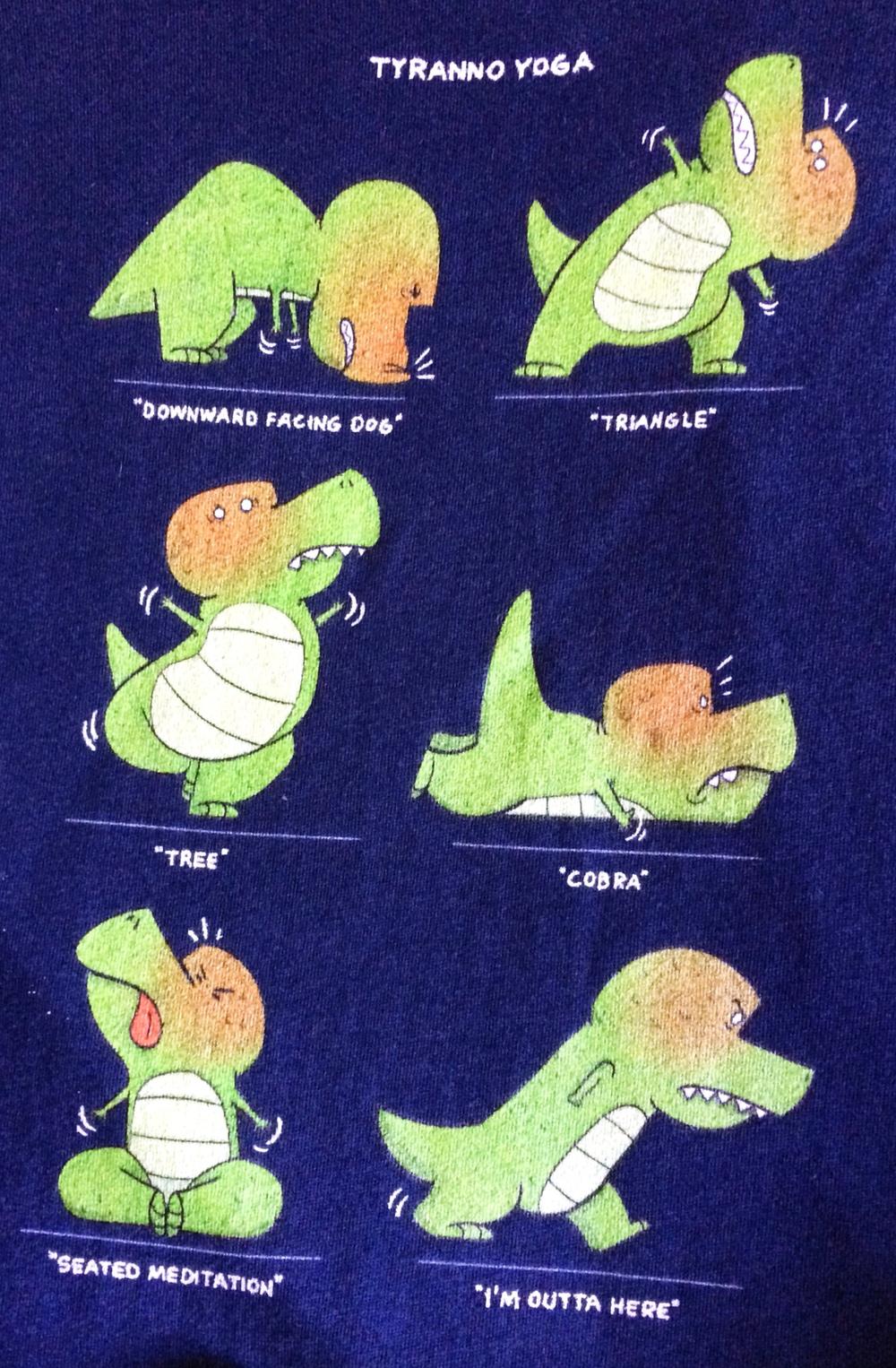 """T-Rex Tries Yoga"""