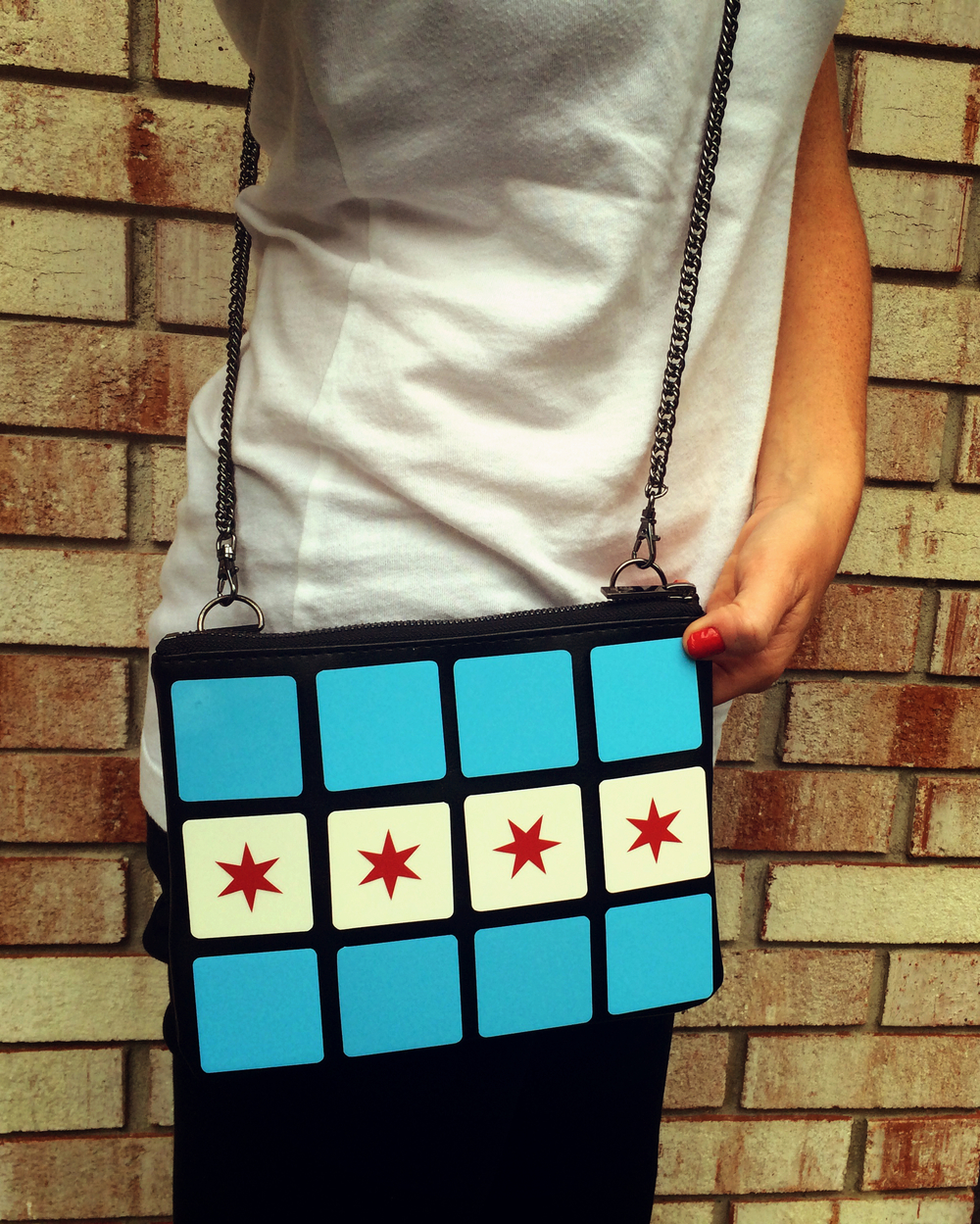 """Chicago Flag Cuttlebag"" Shop Online: www.cuttlebag.com"
