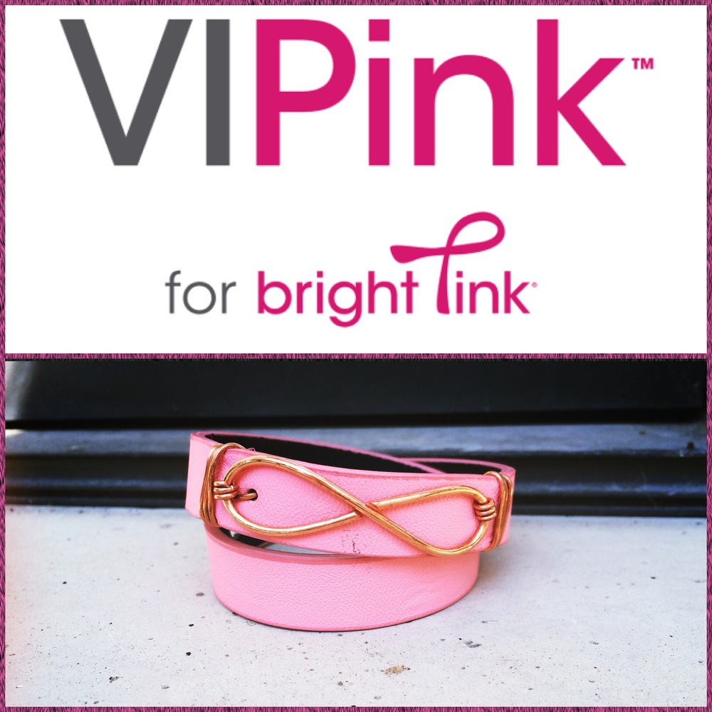 During the month of October purchase a   Belt & Wire   Wrap bracelet with copper infinity knot pendant and 15% of the sales will be donated to   Bright Pink   for the fight against breast cancer.    Shop online:  www.etsy.com/shop/beltandwire       Bright Pink:   www. brightpink .org         Stay Stylish & Healthy Chicago,     Katie