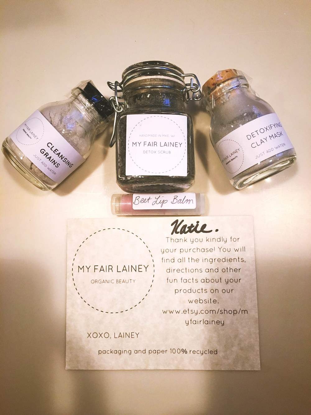 This vegan girl loves all natural and cruelty free products and when they are handmade by someone you know that is even better! I tried a few of the My Fair Lainey products and I have to say that I am HOOKED.